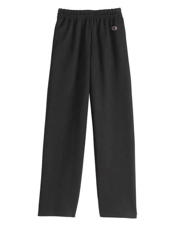 Double Dry Eco Youth Open Bottom Sweatpants with Pockets-Champion-Pacific Brandwear