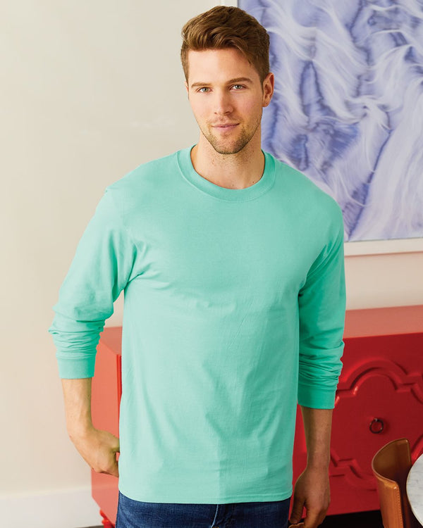 Beefy-T Long sleeve T-Shirt-Hanes-Pacific Brandwear