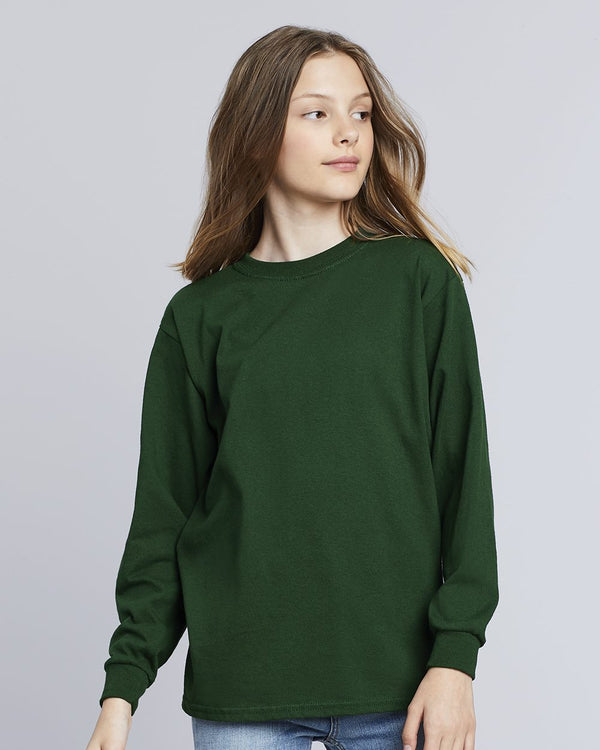 Heavy Cotton Youth Long sleeve T-Shirt-Gildan-Pacific Brandwear