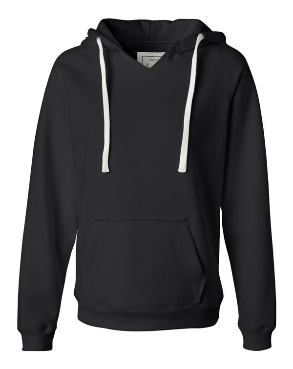 Women's Sueded V-Neck Hooded Sweatshirt-J. America-Pacific Brandwear