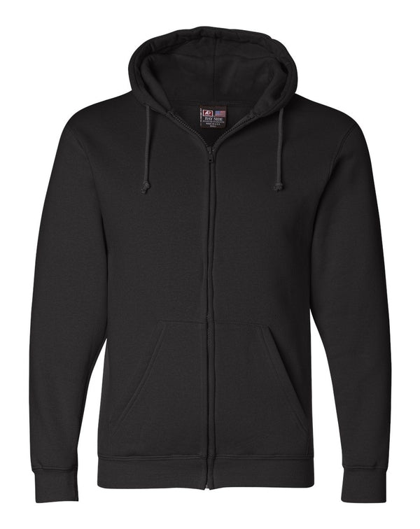 USA-Made Full-Zip Hooded SweatShirt-Bayside-Pacific Brandwear