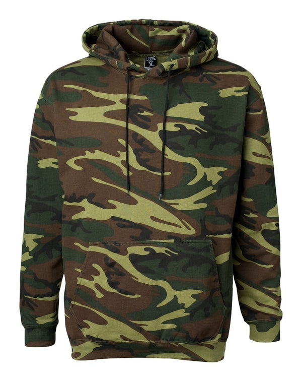 Adult Camo Pullover Fleece Hoodie-Code Five-Pacific Brandwear