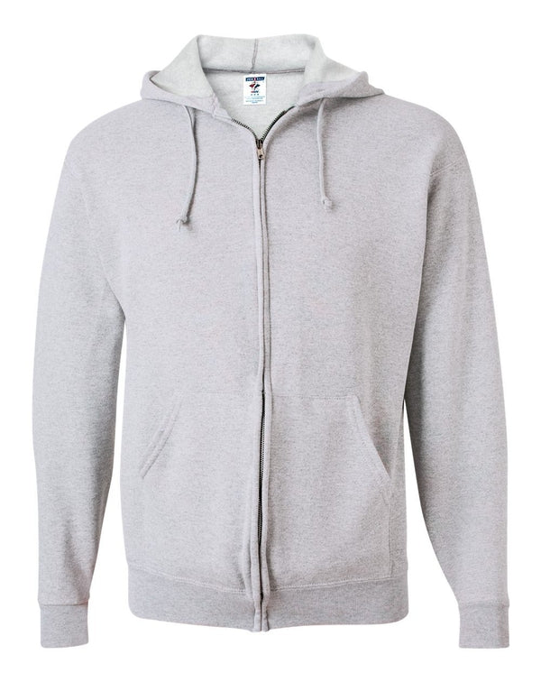 NuBlend Full-Zip Hooded Sweatshirt-JERZEES-Pacific Brandwear