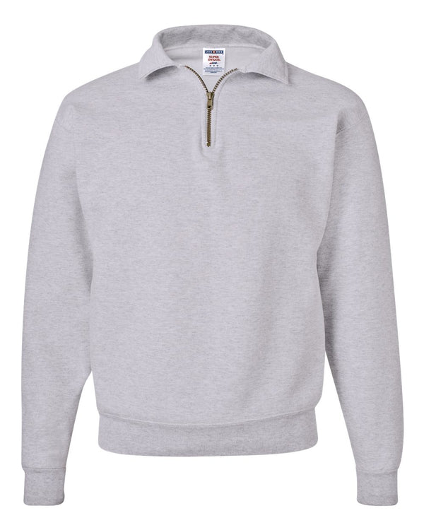 Super Sweats NuBlend Quarter-Zip Cadet Collar Sweatshirt-JERZEES-Pacific Brandwear