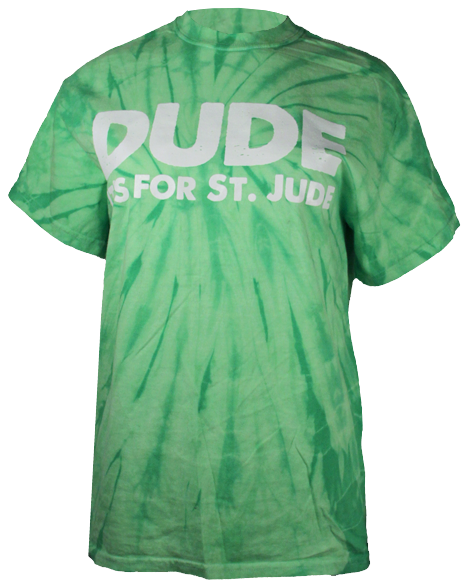 Dude It's For St. Jude Tie Dye Tee-Pacific Brandwear-Pacific Brandwear
