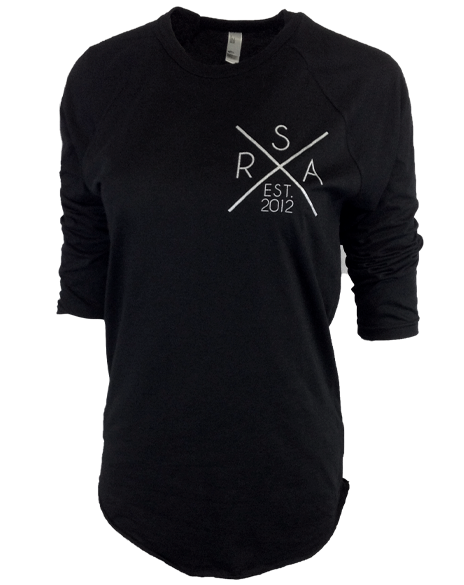Rocketship Alma Academy Break New Ground Baseball Raglan-Pacific Brandwear-Pacific Brandwear
