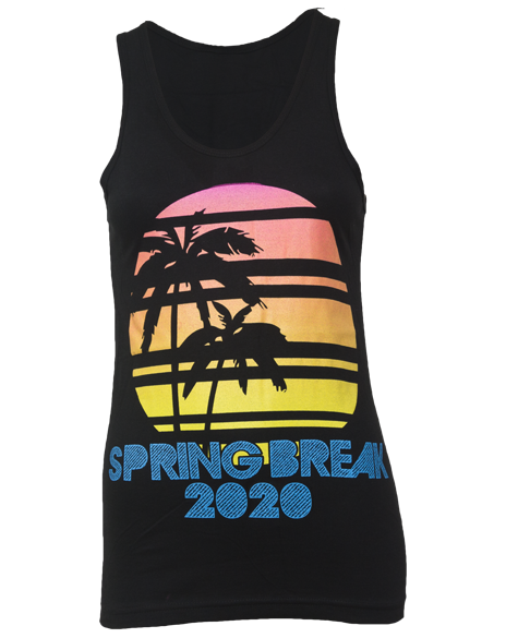 Spring Break Palm Sunset Tank-Pacific Brandwear-Pacific Brandwear