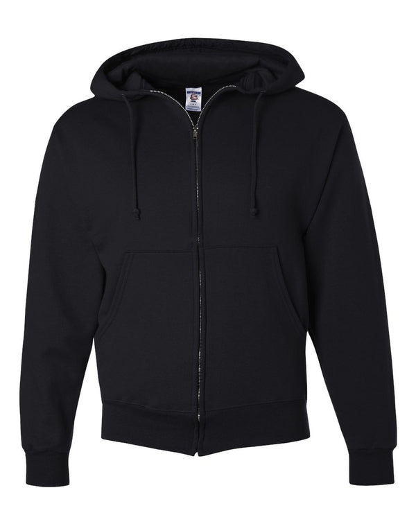 Super Sweats NuBlend Full-Zip Hooded SweatShirt-JERZEES-Pacific Brandwear