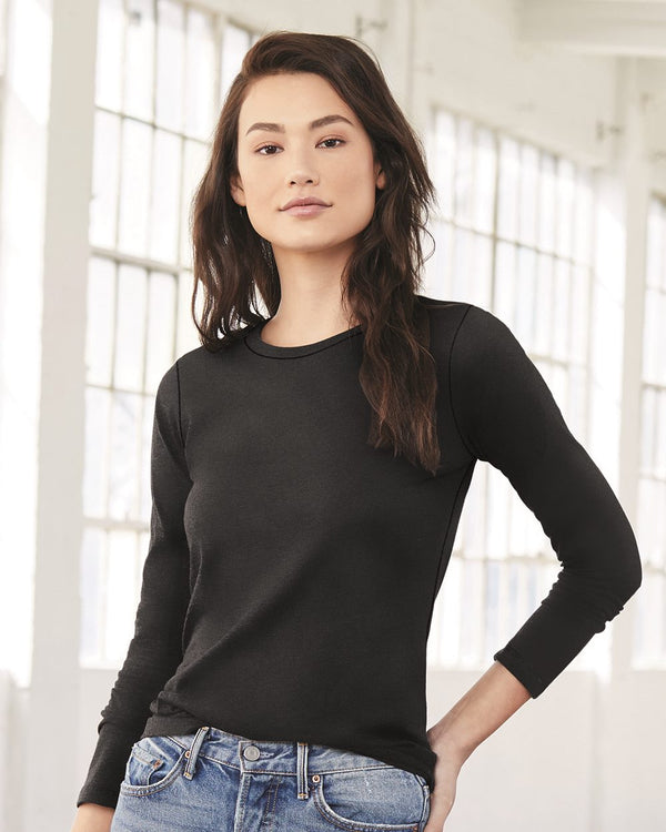 Women's Relaxed Jersey Long sleeve Tee-BELLA + CANVAS-Pacific Brandwear