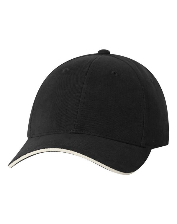Heavy Brushed Twill Sandwich Cap-Sportsman-Pacific Brandwear
