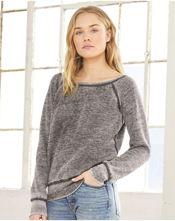 Women's Sponge Fleece Wide Neck Sweatshirt-BELLA + CANVAS-Pacific Brandwear