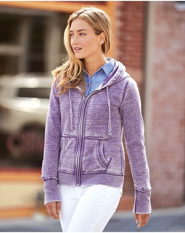 Women's Zen Fleece Full-Zip Hooded Sweatshirt-J. America-Pacific Brandwear