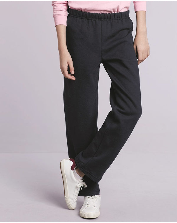 Heavy Blend Youth Open-Bottom Sweatpants-Gildan-Pacific Brandwear