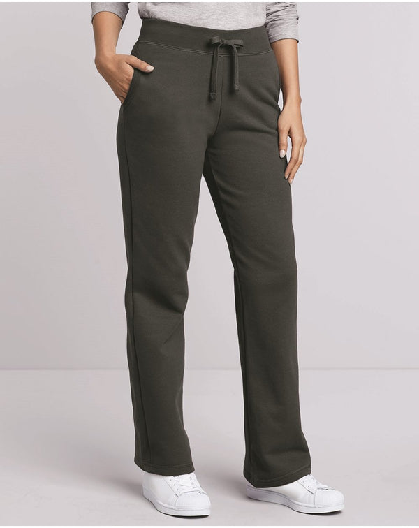 Heavy Blend Women's Open-Bottom Sweatpants-Gildan-Pacific Brandwear