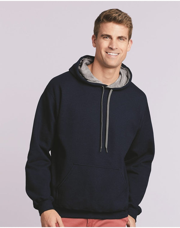 Heavy Blend Contrast-Color Hooded SweatShirt-Gildan-Pacific Brandwear