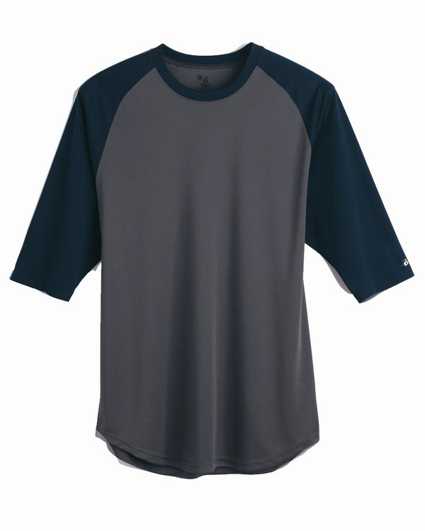 B-Core Three-Quarter sleeve Baseball T-Shirt-Badger-Pacific Brandwear