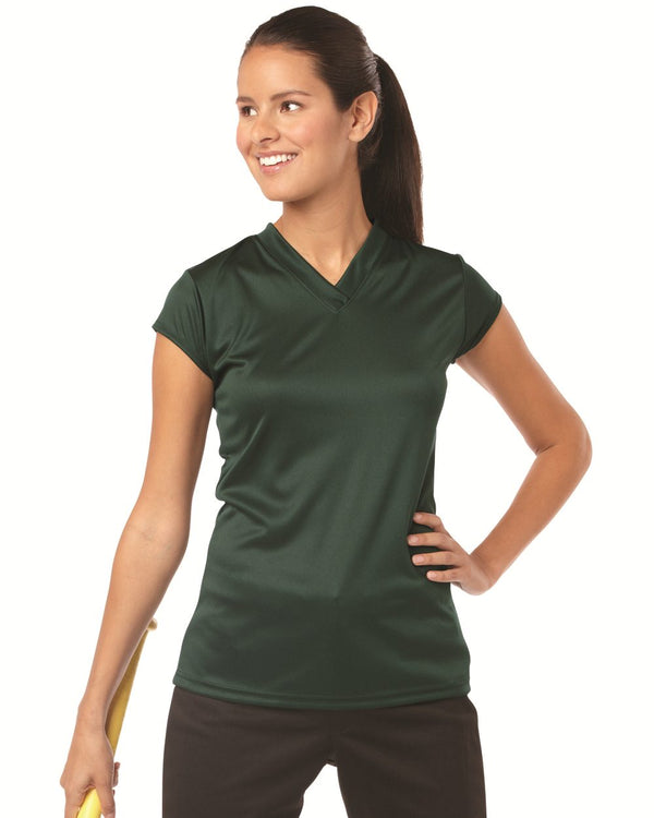 Women's B-Core Cap sleeve Jersey-Badger-Pacific Brandwear