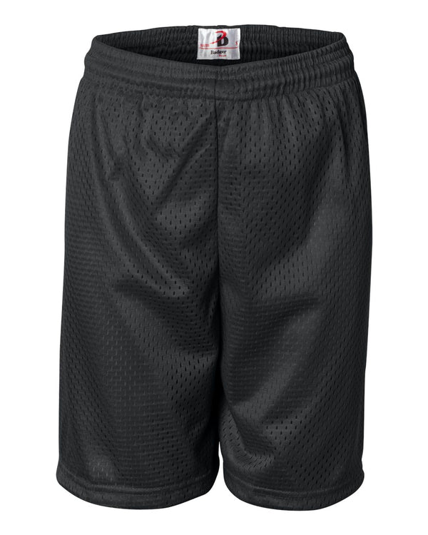 "Youth Pro Mesh 6"" Shorts-Badger-Pacific Brandwear"