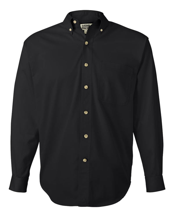Long sleeve Cotton Twill Shirt-Sierra Pacific-Pacific Brandwear