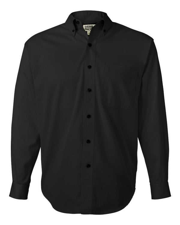 Long sleeve Cotton Twill Shirt Tall Sizes-Sierra Pacific-Pacific Brandwear