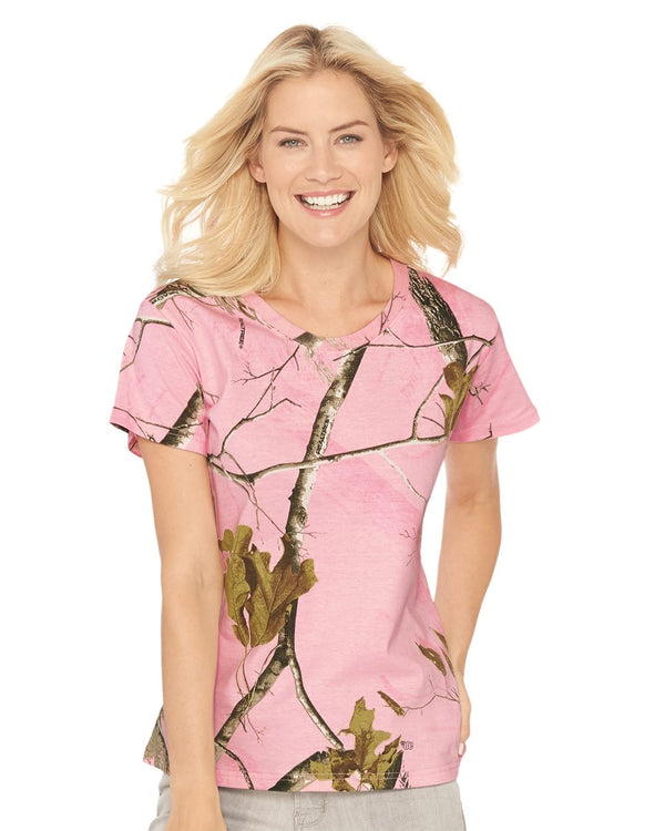 Women's Realtree Camo Tee-Code Five-Pacific Brandwear