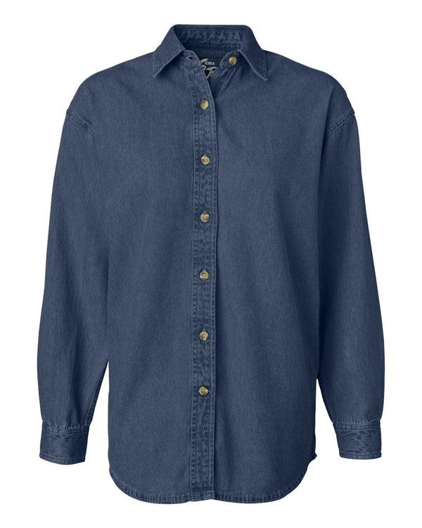 Women's Long sleeve Denim Shirt-Sierra Pacific-Pacific Brandwear