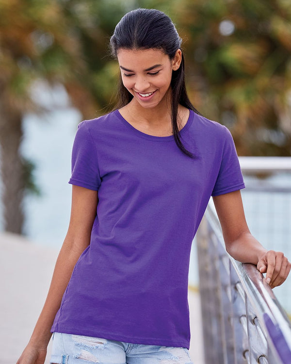 HD Cotton Women's Short sleeve T-Shirt-Fruit of the Loom-Pacific Brandwear