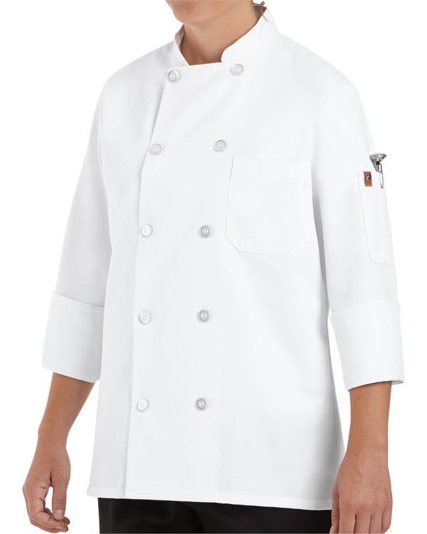 Women's Ten Button Chef Coat-Chef Designs-Pacific Brandwear