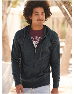 Lightweight Jersey Full-Zip Hooded T-Shirt-Independent Trading Co.-Pacific Brandwear