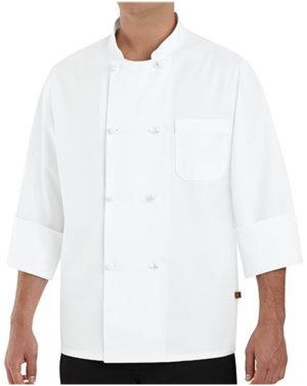 Eight Knot Button Chef Coat-Chef Designs-Pacific Brandwear