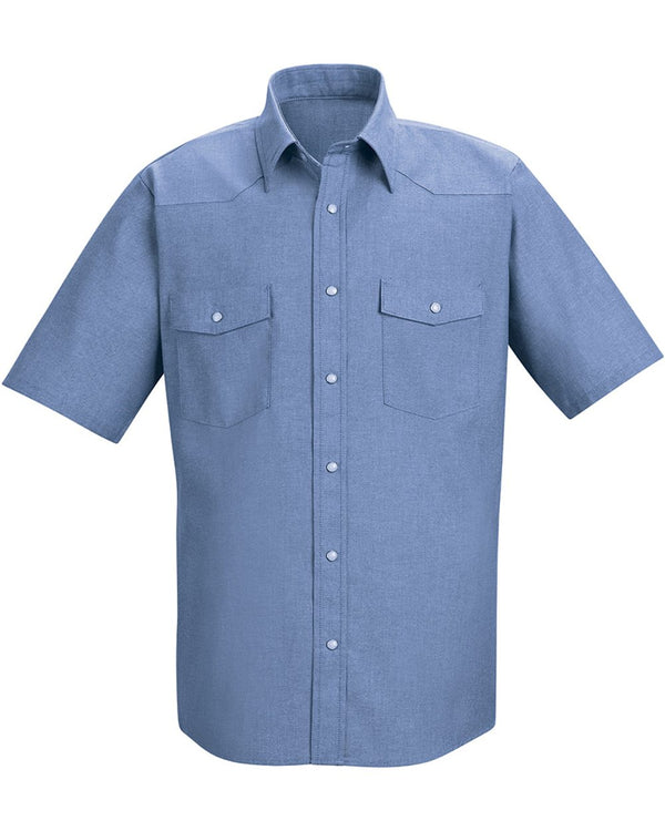 Deluxe Western Style Short sleeve Shirt-Red Kap-Pacific Brandwear
