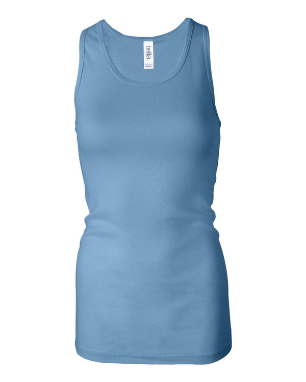 Women's Sheer Mini Rib Racerback Tank-BELLA + CANVAS-Pacific Brandwear