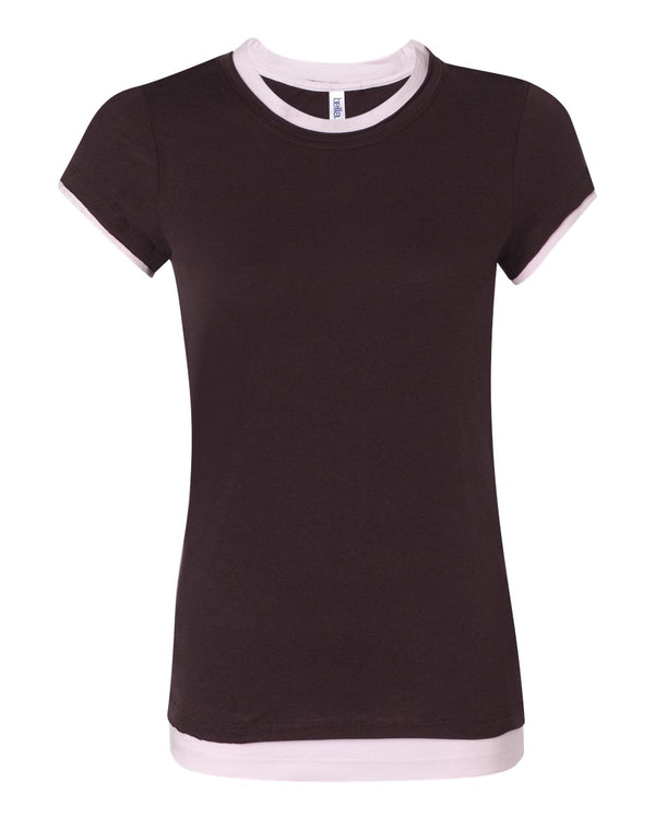 Women's Sheer Jersey 2-in-1 Tee-BELLA + CANVAS-Pacific Brandwear