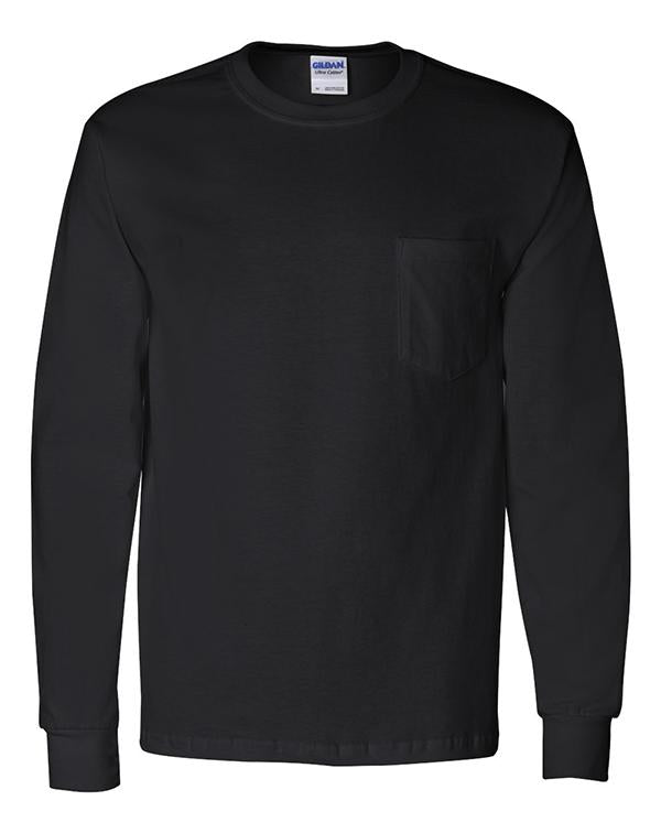 Gildan Long Sleeve Pocket Tee-Gildan-Pacific Brandwear