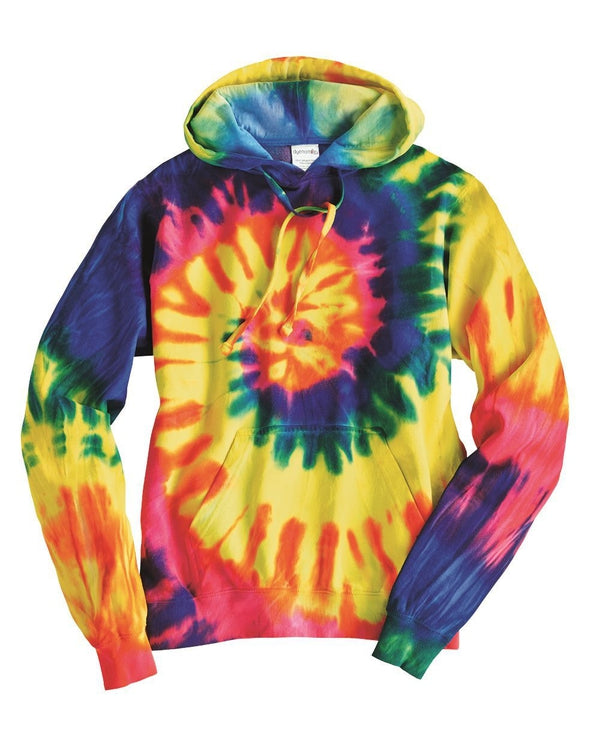 Multi-Color Spiral Pullover Hooded SweatShirt-Dyenomite-Pacific Brandwear
