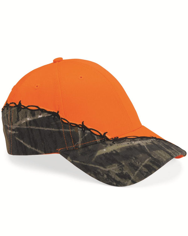 Camo Cap with Barbed Wire Embroidery-Kati-Pacific Brandwear