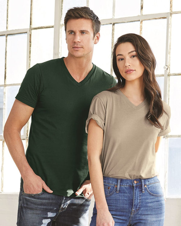 Unisex Jersey V-Neck Tee-BELLA + CANVAS-Pacific Brandwear
