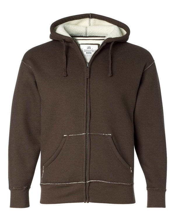 Full-Zip Hooded Thermal with Sherpa Lining-J. America-Pacific Brandwear