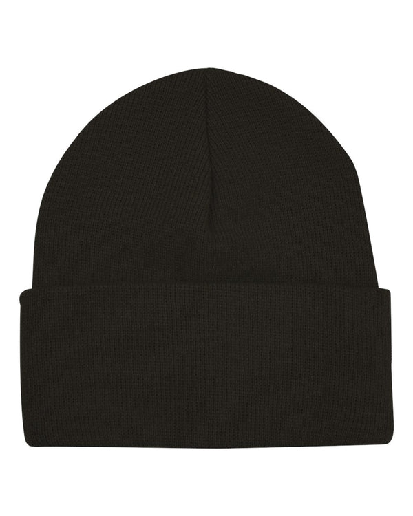 "USA-Made 12"" Knit Beanie with Cuff-Bayside-Pacific Brandwear"