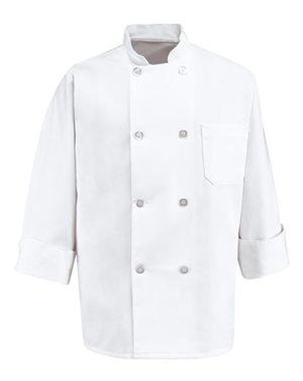 Eight Pearl Button Chef Coat-Chef Designs-Pacific Brandwear