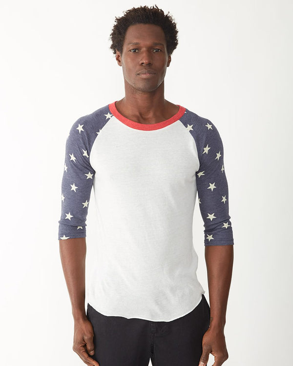 Printed Eco-Jersey Baseball Raglan Tee-Alternative Apparel-Pacific Brandwear