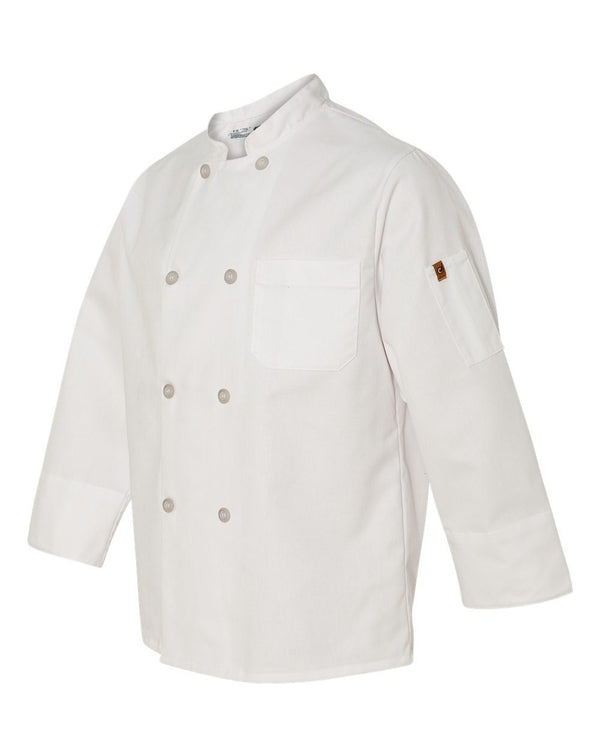 Chef Designs Button Chef Coat with Thermometer Pocket-Chef Designs-Pacific Brandwear