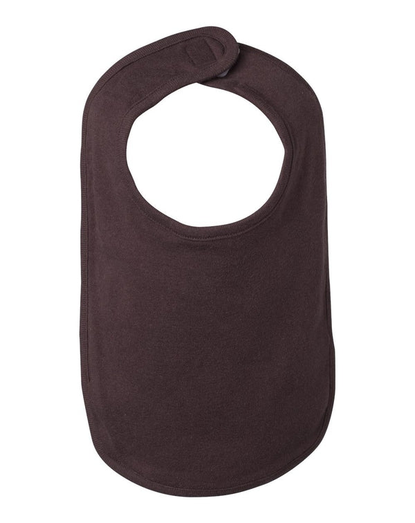 Infant Baby Rib Reversible Bib-BELLA + CANVAS-Pacific Brandwear