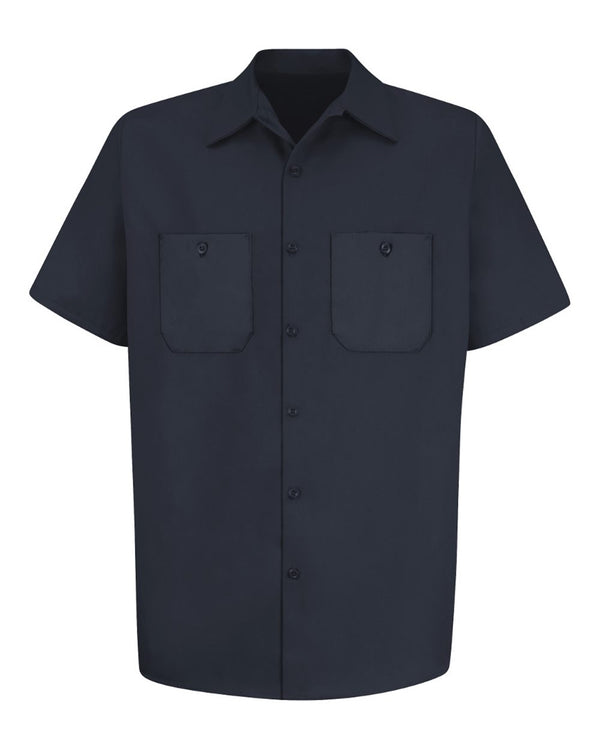 Cotton Short sleeve Uniform Shirt-Red Kap-Pacific Brandwear