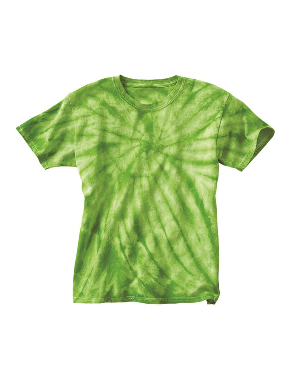 Youth Cyclone Vat-Dyed Pinwheel Short sleeve T-Shirt-Dyenomite-Pacific Brandwear