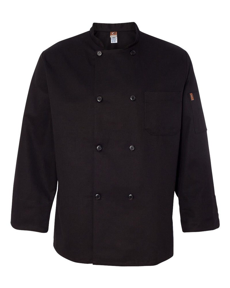 Black Traditional Chef Coat-Chef Designs-Pacific Brandwear