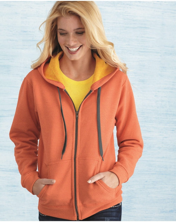 Heavy Blend Women's Vintage Full-Zip Hooded Sweatshirt-Gildan-Pacific Brandwear