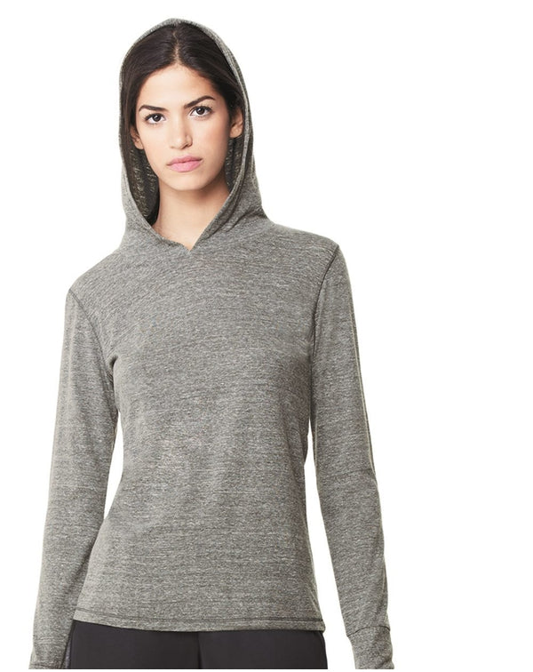 Women's Triblend Long sleeve Hooded Pullover-All Sport-Pacific Brandwear