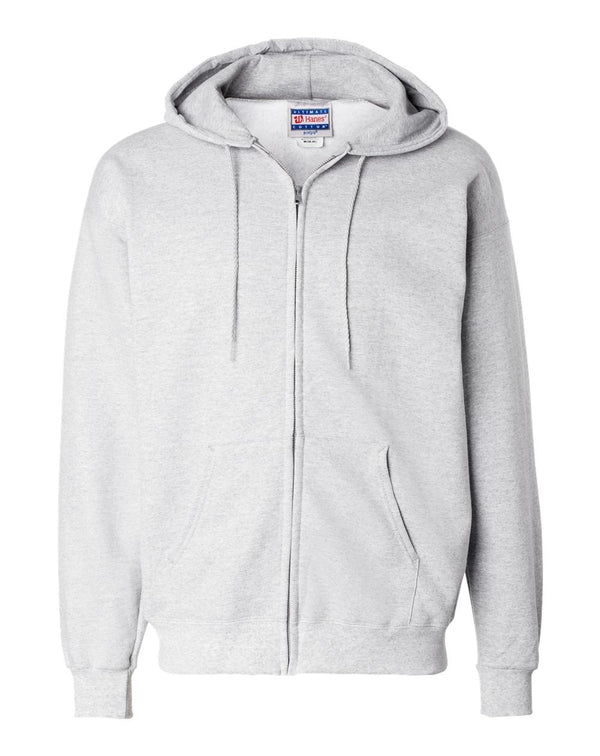Ultimate Cotton Full-Zip Hooded SweatShirt-Hanes-Pacific Brandwear