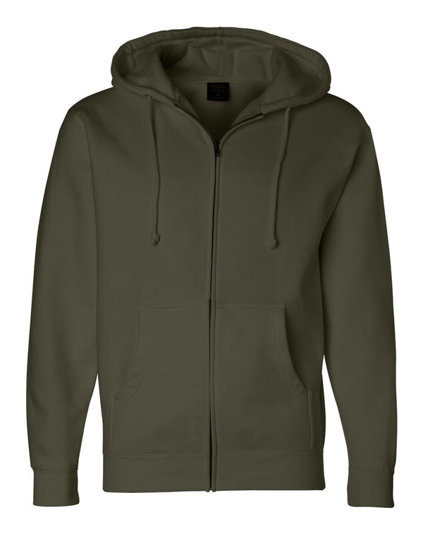 Full-Zip Hooded SweatShirt-Independent Trading Co.-Pacific Brandwear